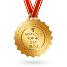 """Awarded Top 40 Spa Blog"" medal for the spa's amazing blog and one of the best in Surrey."