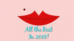 """""""All the best in 2018"""" shown under a pair of red lips - telling you Azure Skin Care will make you feel much better at our Spa!"""