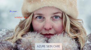 Fix your winter skin at our Surrey Spa - girl looking at camera with clear skin.